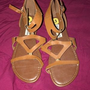 Girls size 3 Steve Madden sandals gladiator LN